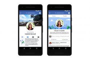 Facebook and Instagram can memorialise the deceased person's profile, with the word 'Remembering' before their name.