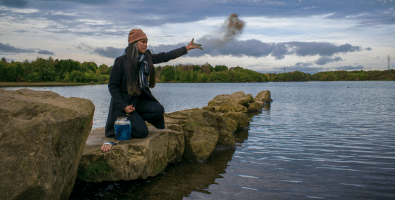 After a cremation, you may choose to scatter ashes at a loved one's special fishing spot or beach.