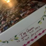 Personalised cardboard coffin decorated by loved ones. Source: DaisyBox via Facebook