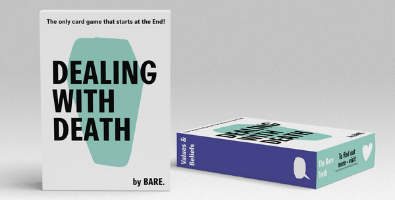 Our game, Dealing with Death, encourages people to talk about death in a fun and light-hearted setting.