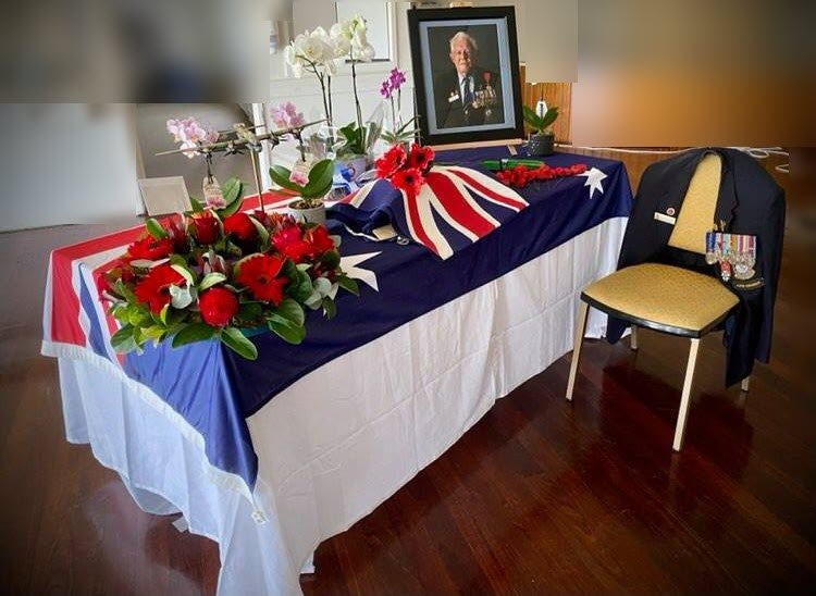 After Queensland came out of lockdown, Laurie, a 98-year-old veteran, was given a honourable memorial.